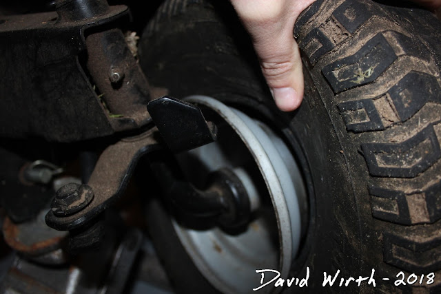 fix flat tire come off rim, riding mower, how to fix a flat tire