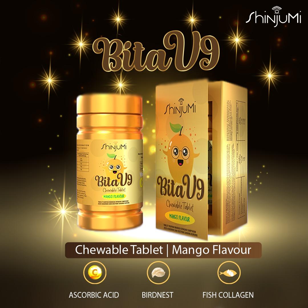 Tablet Kunyah Vitamin Shinjumi Bita V9 Untuk Kecantikan Kulit