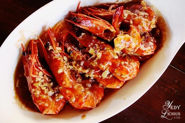 Garlic Prawn at Balinsasayaw Best Restaurants in Puerto Princesa Palawan Philippines YedyLicious Manila Food and Travel Blog