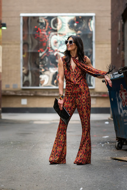 meryl franzos, mrs. franzos, disco queen, jumpsuit chic, how to style a jumpsuit
