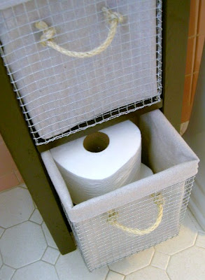 bathroom storage wire baskets for toilet paper