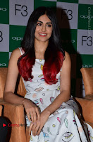 Bollywood Actress Adah Sharma Pos in White Printed Short Dress at OPPO F3 Plus Selfie Expert Mobile Launch .COM 0054.jpg
