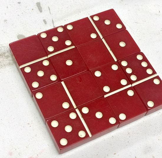 How to make DIY domino coasters for the holidays