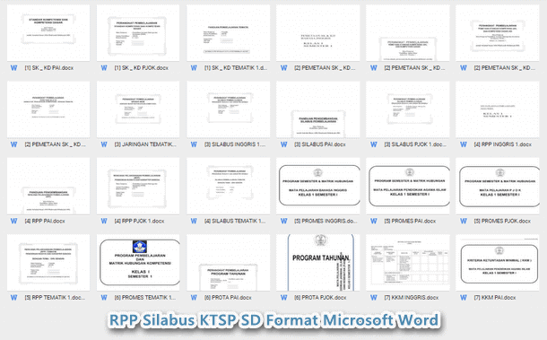 RPP Silabus KTSP SD Kelas 1 Format Microsoft Word