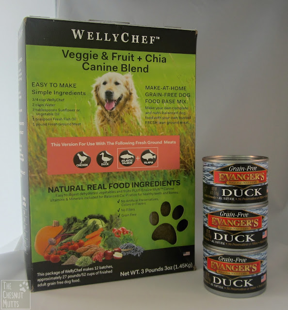WellyChef duck base mix with Evanger's Duck canned dog food