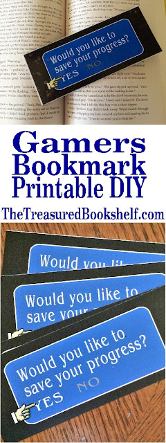 Mark your favorite book with your favorite gaming bookmark.  This free printable will let you embrace your love of gaming and love of reading.