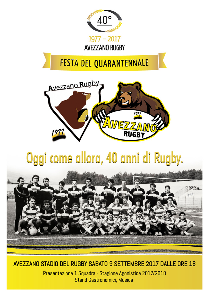Avezzano Rugby - Festa del Quarantennale