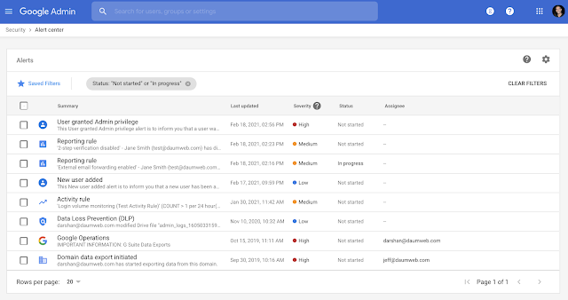 More notifications added to the alert center in Google Workspace 2