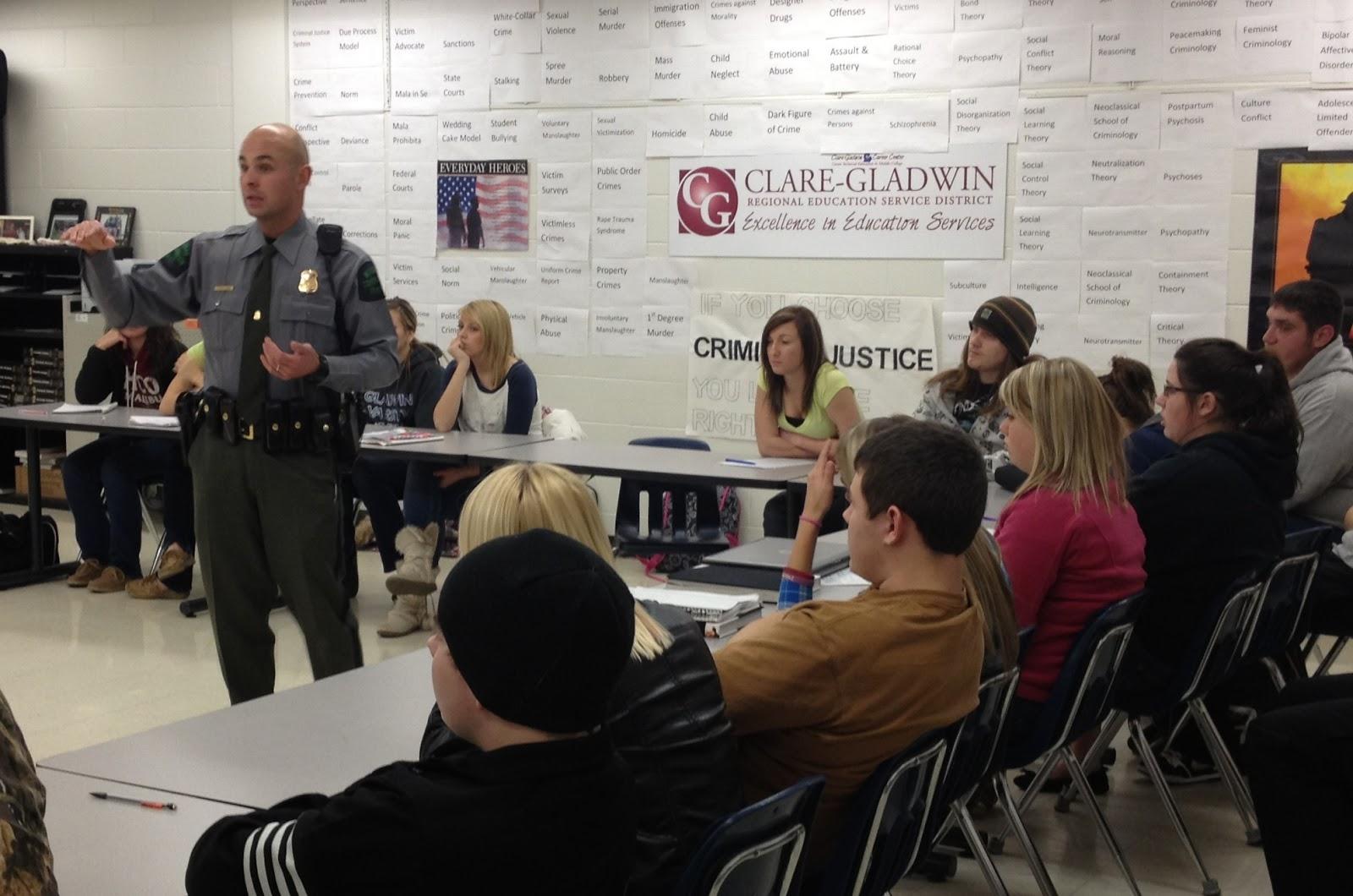 The Bulletin Board Dnr Officer Visits Cte Criminal