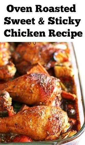 Oven Roasted Sweet & Sticky Chicken Recipe | Chicken Recipes Healthy, Chicken Recipes Easy,  Chicken Recipes For Dinner, Chicken Recipes Casserole, Chicken Recipes Crockpot, Chicken Recipes Keto, Chicken Recipes Roasted #oven #roasted #chicken #sweet #chickenrecipe #dinner #chickendinner