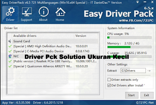 Download Driver Pack Ukuran Kecil