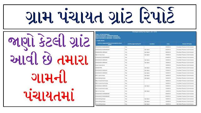 Gujarart Gram Panchayat Work Report 2020-21 @Planningonline.Gov.In