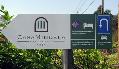 placa indicativa da Casa Mindela