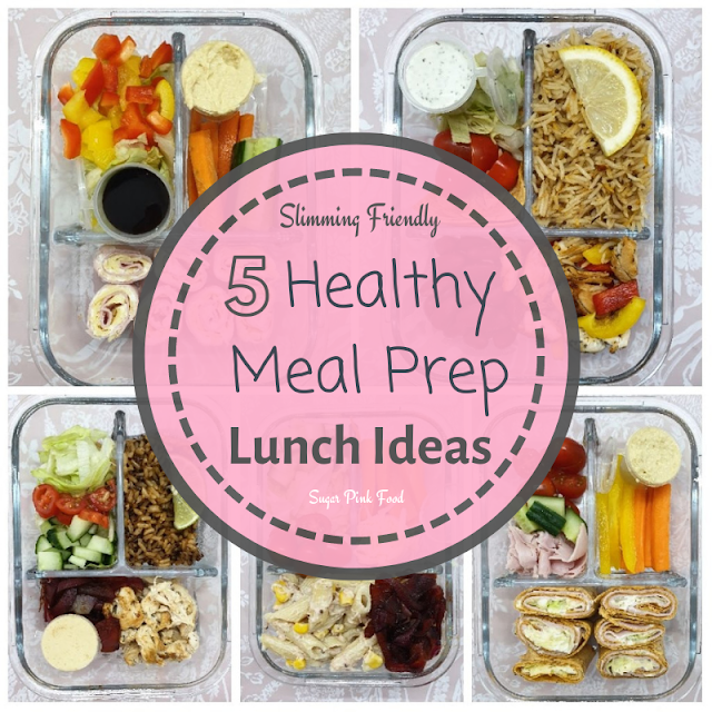 5 Healthy Make Ahead Meal Prep Lunches & Shopping Lists