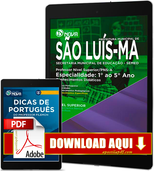 Apostila SEMED 2016 PDF Download São Luís Professor 1º ao 5º ano
