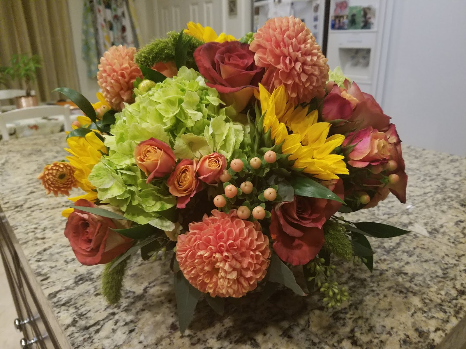 Just breathe happy 67th birthday adam and gabby had a beautiful flower arrangement for me to take home izmirmasajfo