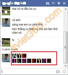 Biểu tượng chat Facebook mới nhất, icon chat FB