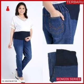 MOM209C12 Celana Hamil Jeans Wash basic Celanahamil Ibu Hamil