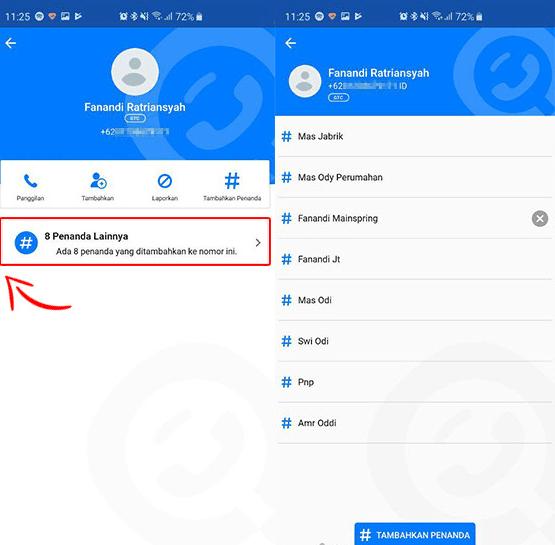 Cara mudah Melihat nama Kontak Orang Lain via Get Contact.
