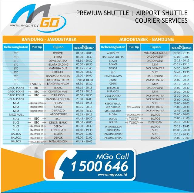 Jadwal & Nomor Telepon MGo (Eks Cipaganti) Travel Bandung