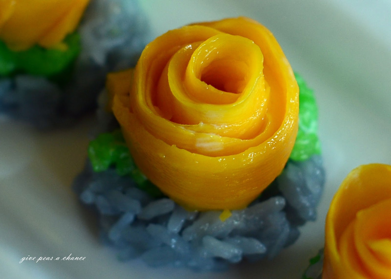 Give Peas A Chance Coconut Sticky Rice With Mango Pandan And