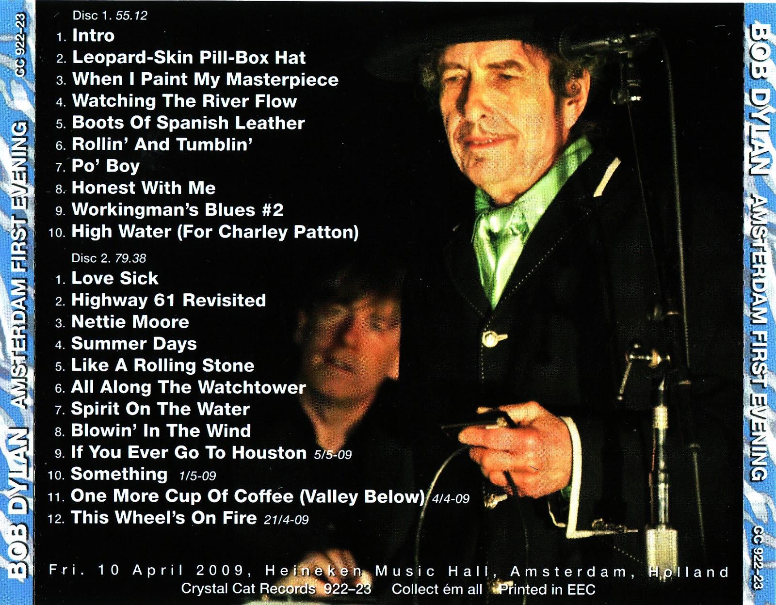 world of bootlegs bootleg bob dylan heineken music hall amsterdam 10 april 2009 cd covers. Black Bedroom Furniture Sets. Home Design Ideas