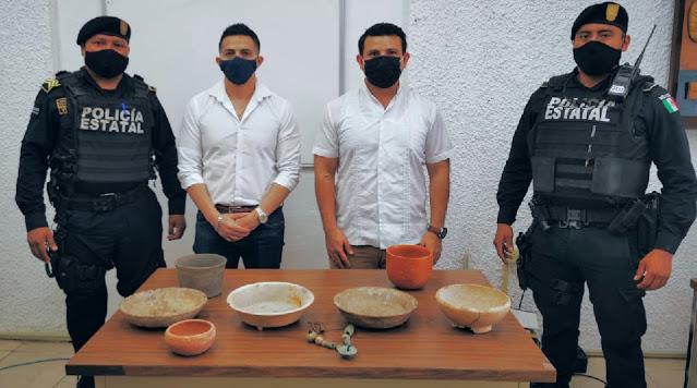 Recupera INAH Yucatán, ocho piezas arqueológicas que se venderçan por internet