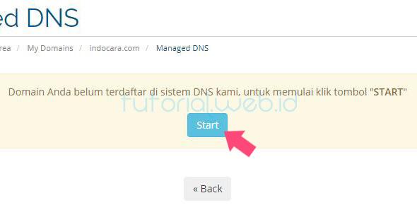 Cara Memverifikasi Kepemilikan Domain Rumahweb 4 Pilih Start