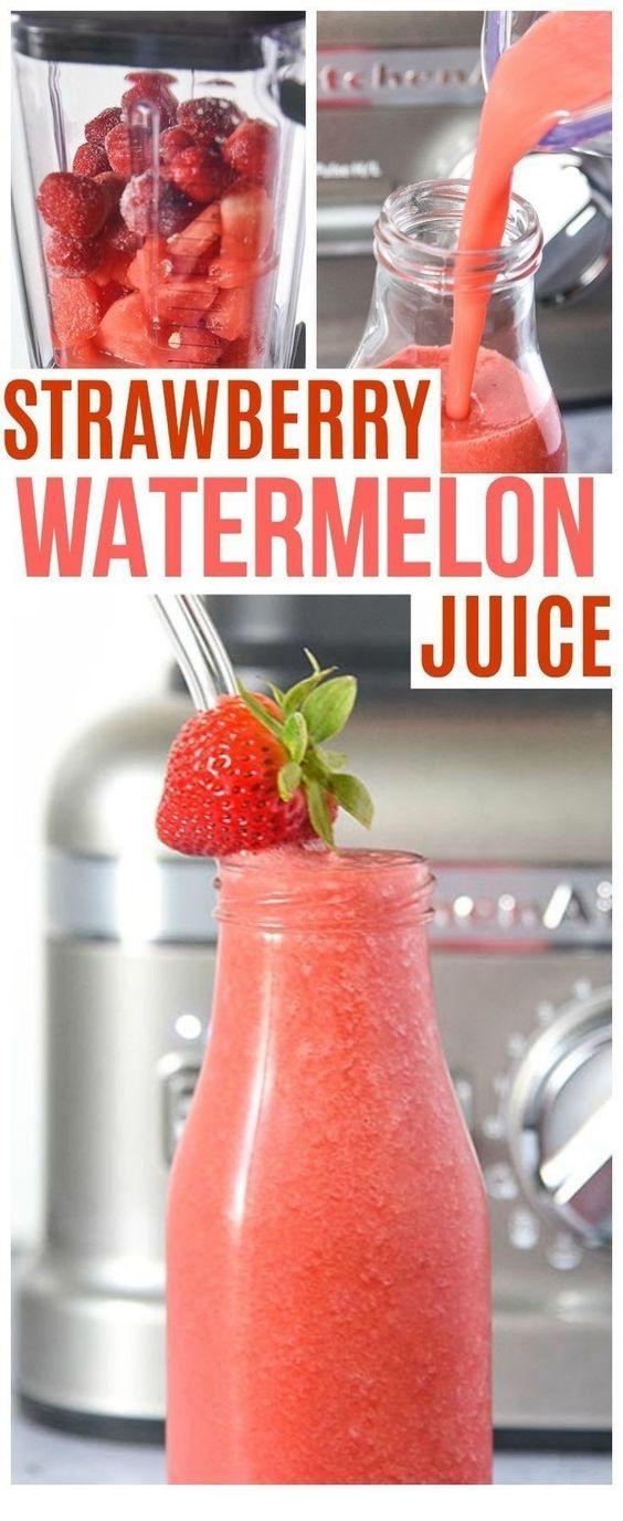 Strawberry Watermelon Juice Recipe