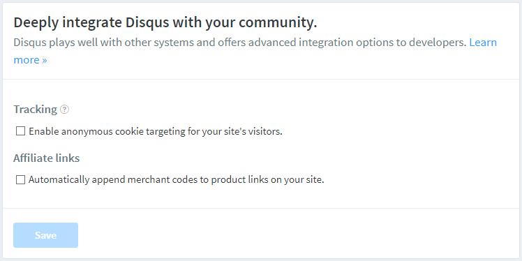 Contoh Disqus Site Advanced Settings Kode Jarwo