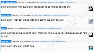 code tao nhan xet moi tai trang tinh cho blogspot