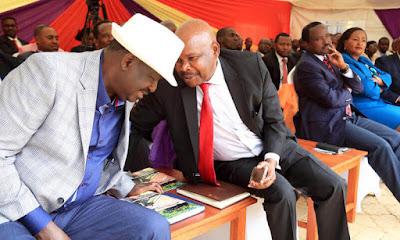 Prof. Makau Mutua with Raila Odinga