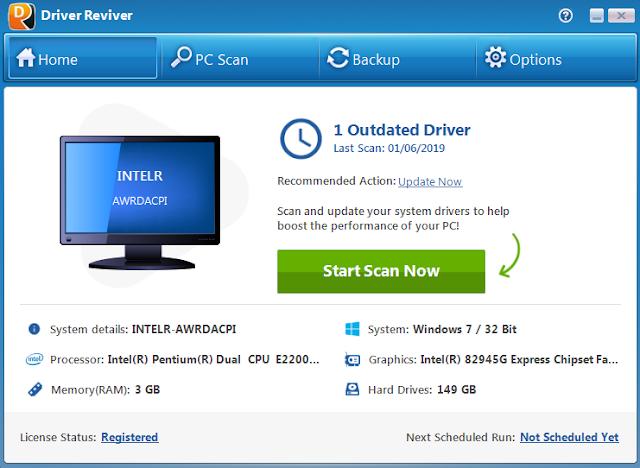 Screenshot Driver Reviver 5.31.0.14 Full Version
