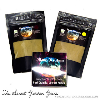 Moon Kratom yellow & purple variety, and magnet