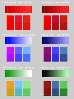 Color Pattern; Small Blocks on Bottom; Mode Hard Light