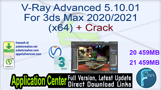 V-Ray Advanced 5.10.01 For 3ds Max 2020 2021 (x64) + Crack