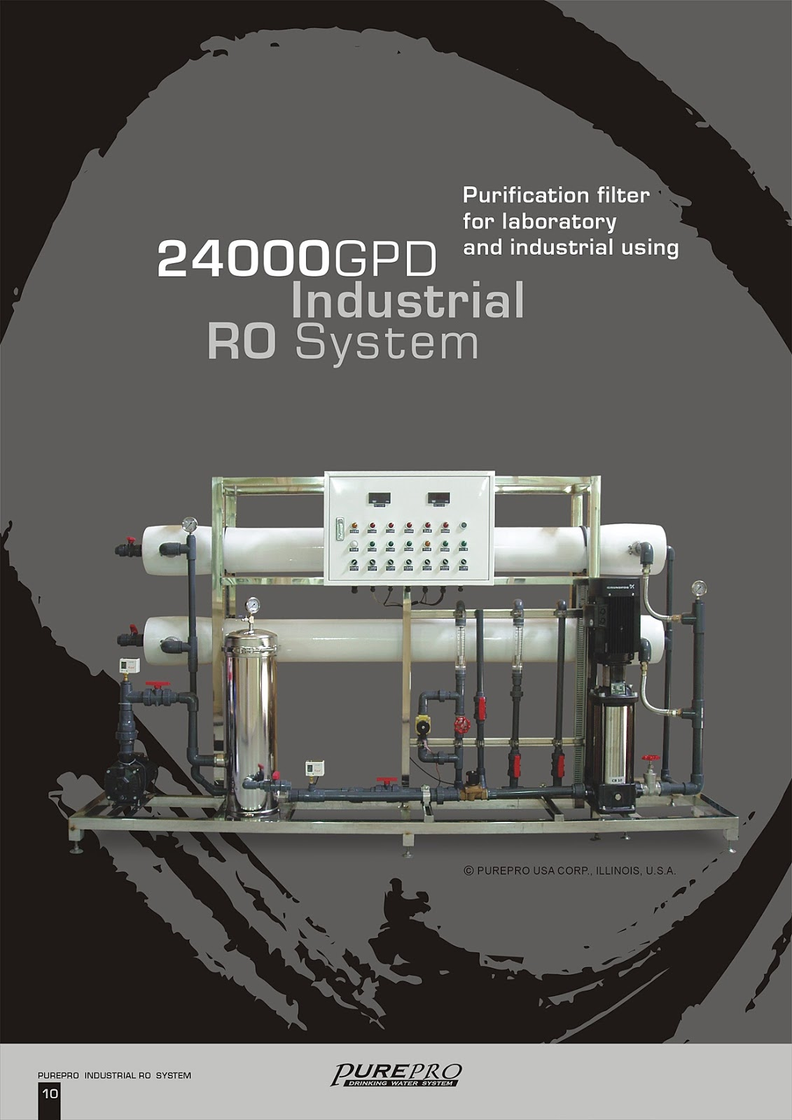 PurePro® RO24000 Industrial Reverse Osmosis Water Filter System