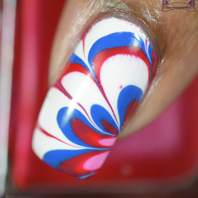 Watermarble Wednesdays: Red, White & Blue