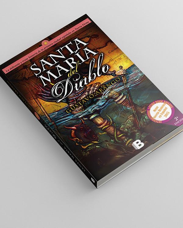 Diseño de portada del libro Santa María del Diablo
