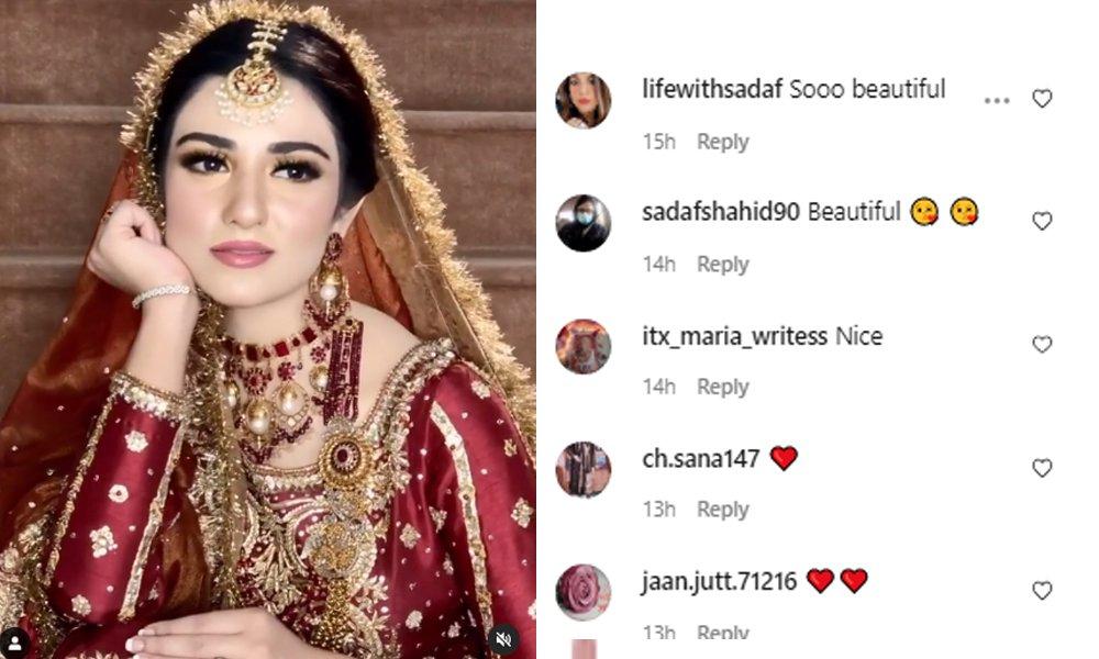 Sarah Khan New Mesmerizing Bridal Photo Shoot