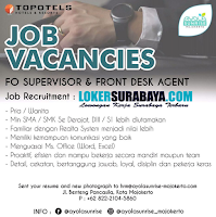 Job Vacancies at Topotels Hotels and Resort Mojokerto November 2019