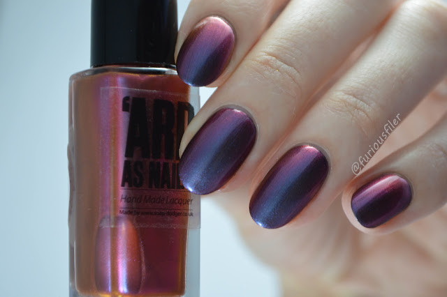 'ard as nails colour shift purple sarah swatch