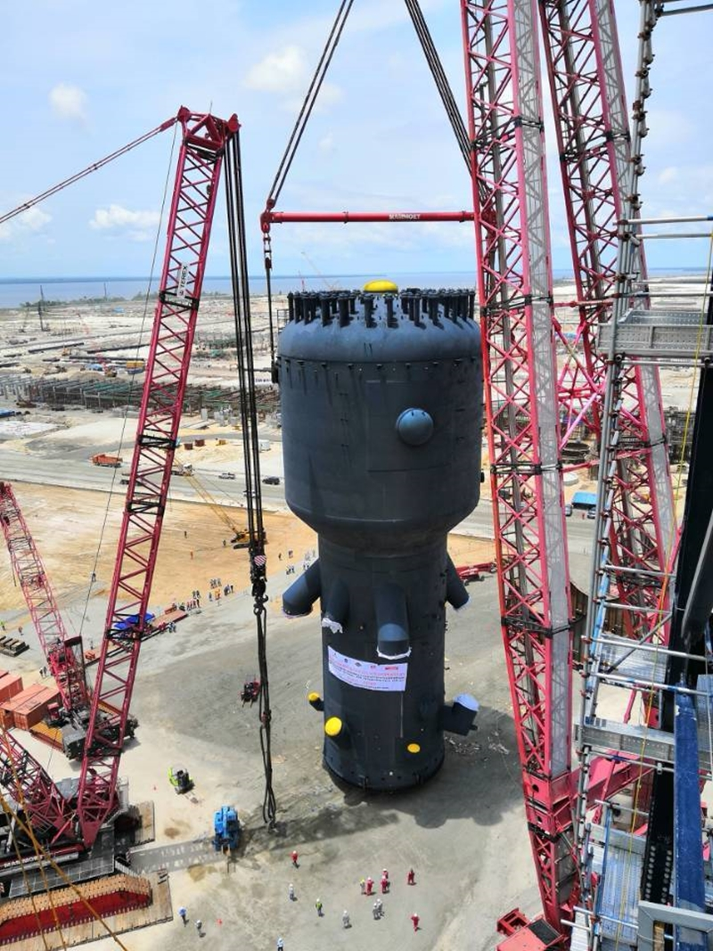 dangote u0026 39 s refinery to be completed in 2021  see the amazing gigantic construction ongoing