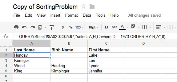 iGoogleDrive: Google Spreadsheet sorting with multiple columns