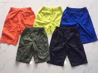 Quần bé trai xuất Nhật made in cambodia, chất co giãn, hiệu Gu, size từ 20 đến 35kg.