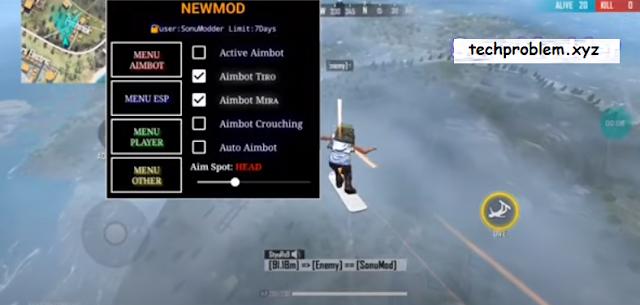 Free Fire Mod Menu NEWMOD Aimbot Esp Ghosthack Telekill Antiban