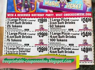 Free Printable Chuck E Cheese Coupons