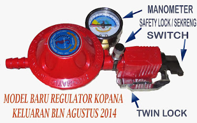 Regulator Pengaman Gas LPG Merk Kopana Top Gas