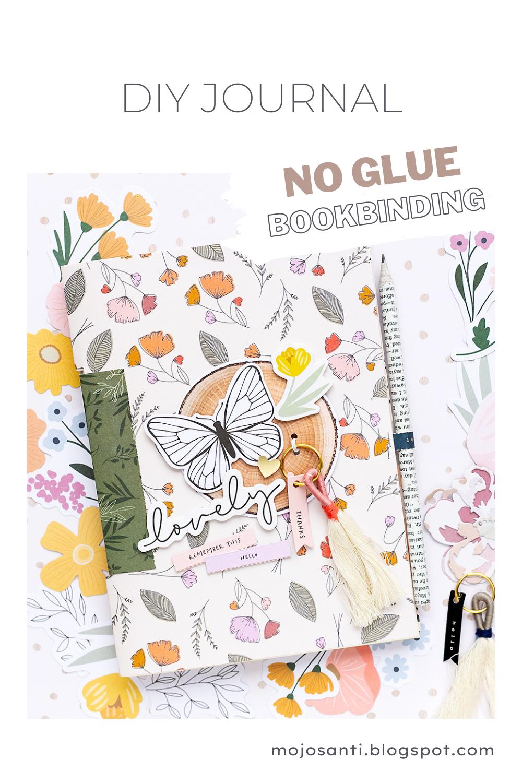 Pinterest Pin American Crafts No Glue Bookbinding Mini Album Jen Hadfield Peaceful Heart