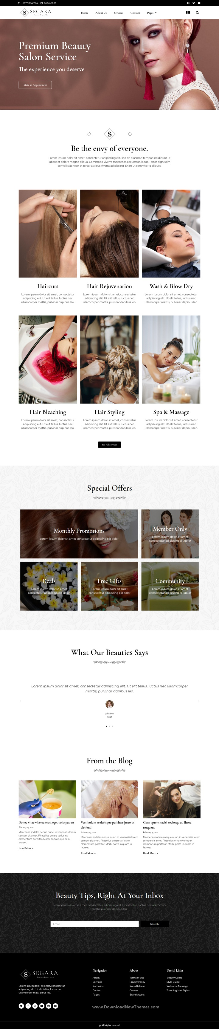 Segara Beauty Salon Elementor Template Kit